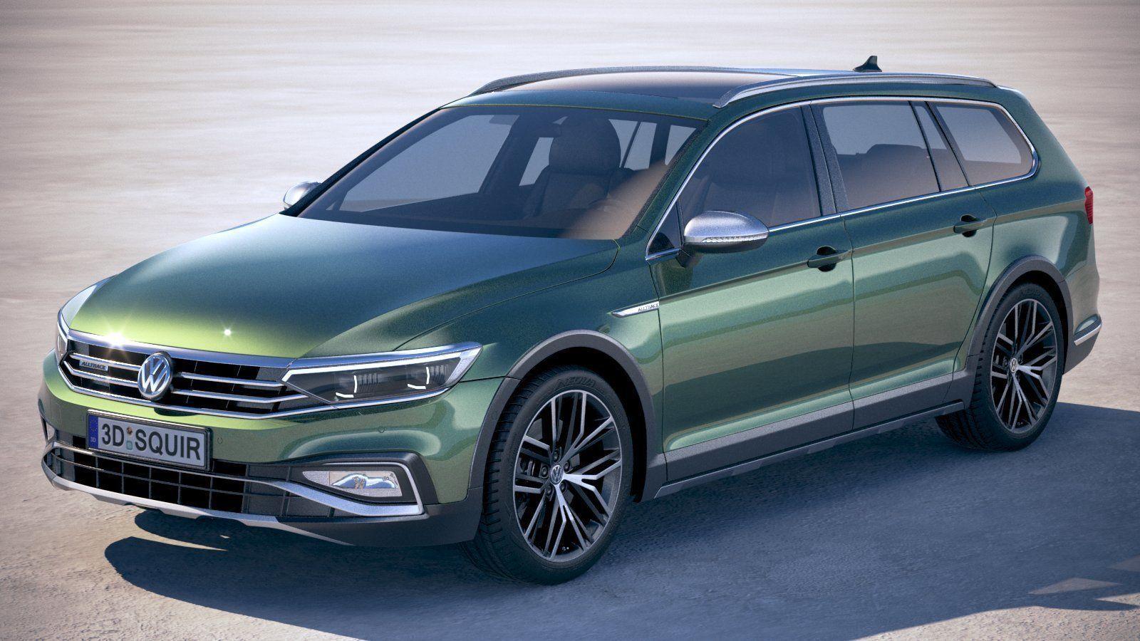 Volkswagen Passat Alltrack 2020 3d Model