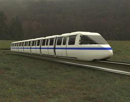 Monorail Train with Track 3D