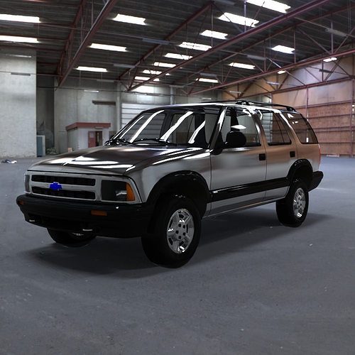 1993 Chevrolet S10 Blazer Interior: 3D Model Chevrolet S10 Blazer 1995