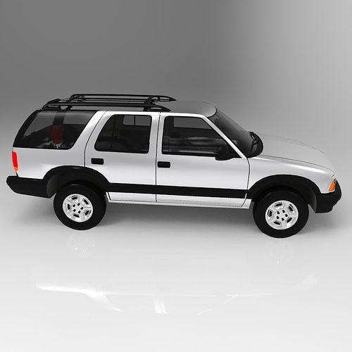 chevrolet s10 blazer 1995 3d model obj 6