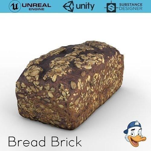 bread 3d model obj mtl fbx c4d unitypackage prefab uasset 1