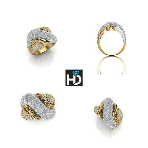 hd fashion ring  3d model stl 3dm 1
