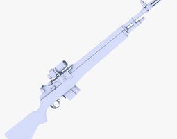 3D asset M14 Rifle