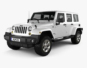 3D Jeep Wrangler Unlimited Sahara 2012