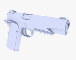 VR / AR ready colt m1911 pistol 3d asset