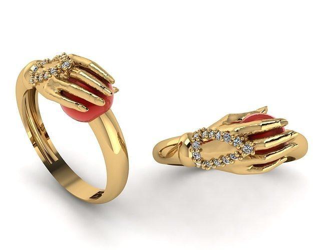 ring hand 3d model 3dm 1