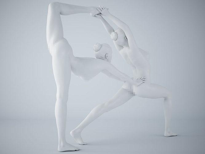 two-person yoga pose 008 3d model stl 1