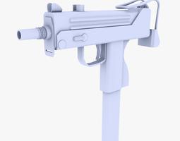 3D asset Mac 11 Submachine Gun