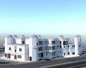 Oman muscat beach hotel 3D