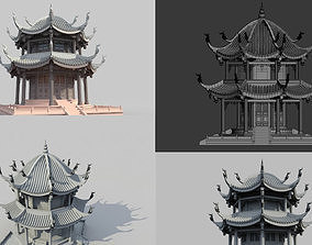 3DMAX Model-Ancient Octagonal Pavilion in China