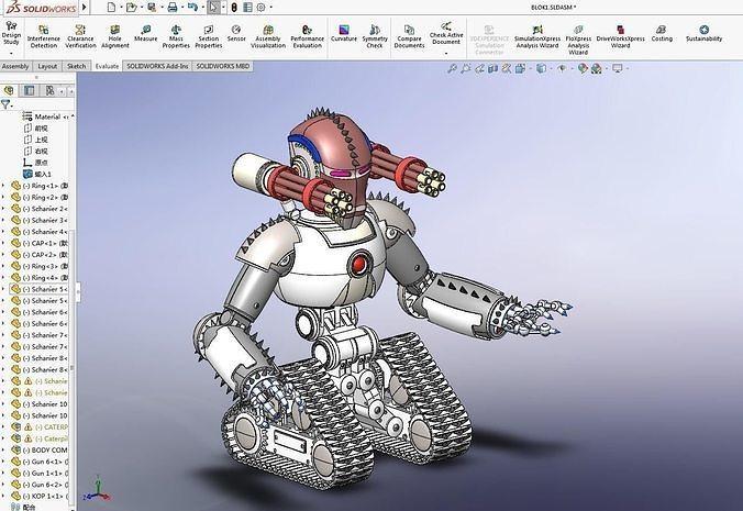 Crawler Terminator 3D Model Robot