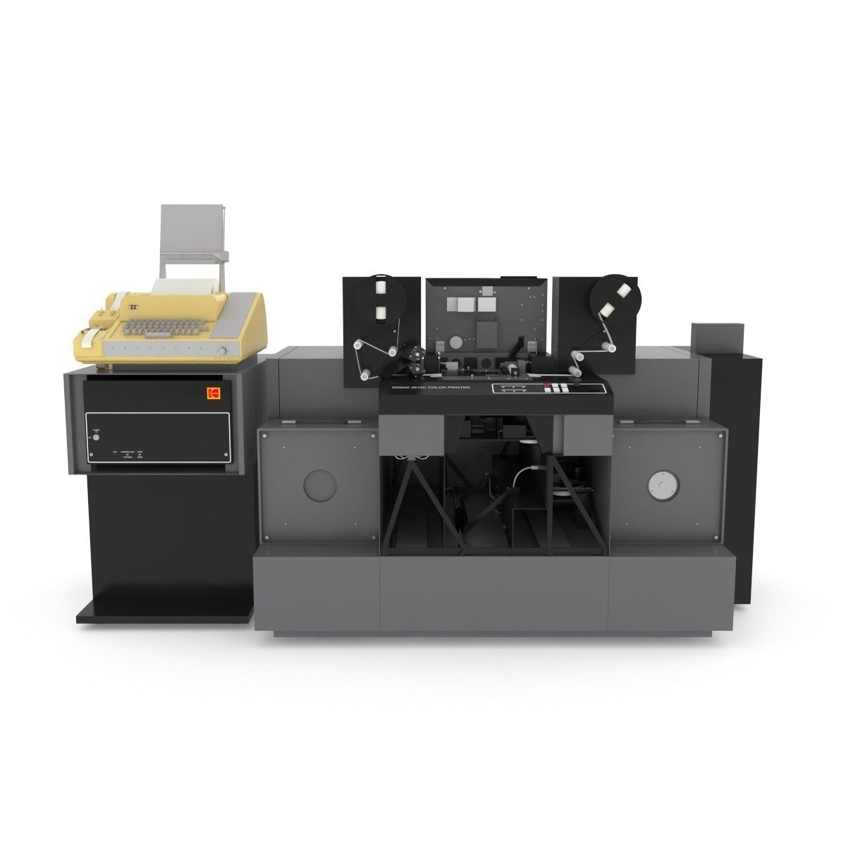 1982 Kodak 2610-C Color Printer-Computer Assembly | 3D model