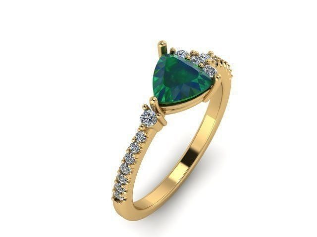 green triangle ring