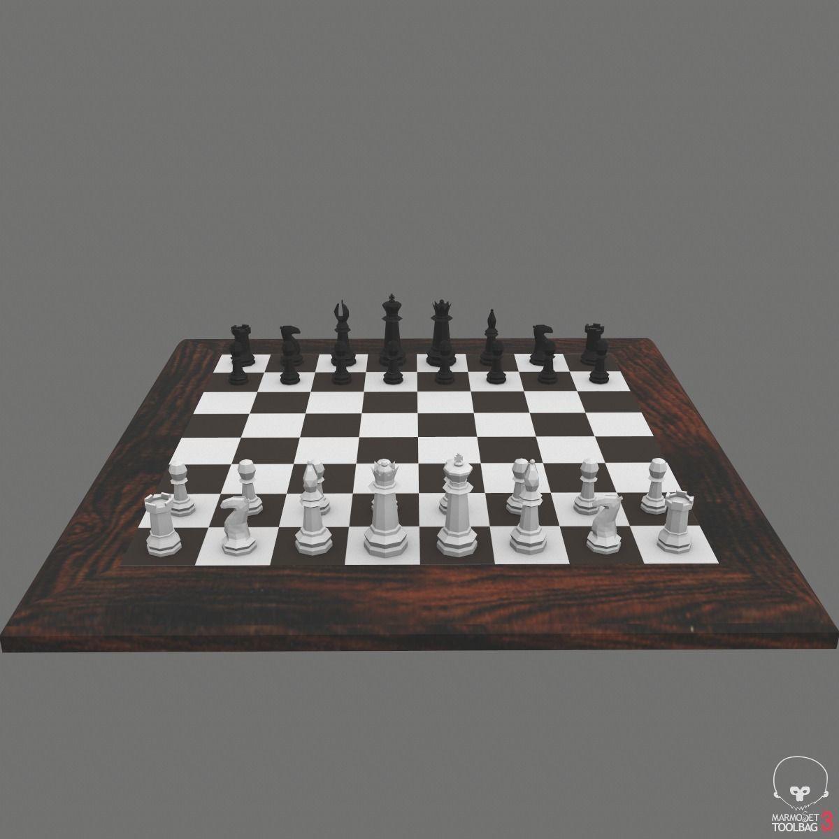 Chess Set Game-Ready