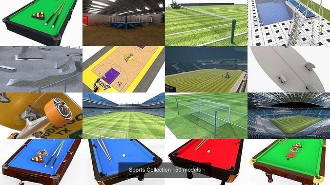 sports collection 3d model obj mtl 3ds fbx ma mb stl dae 1