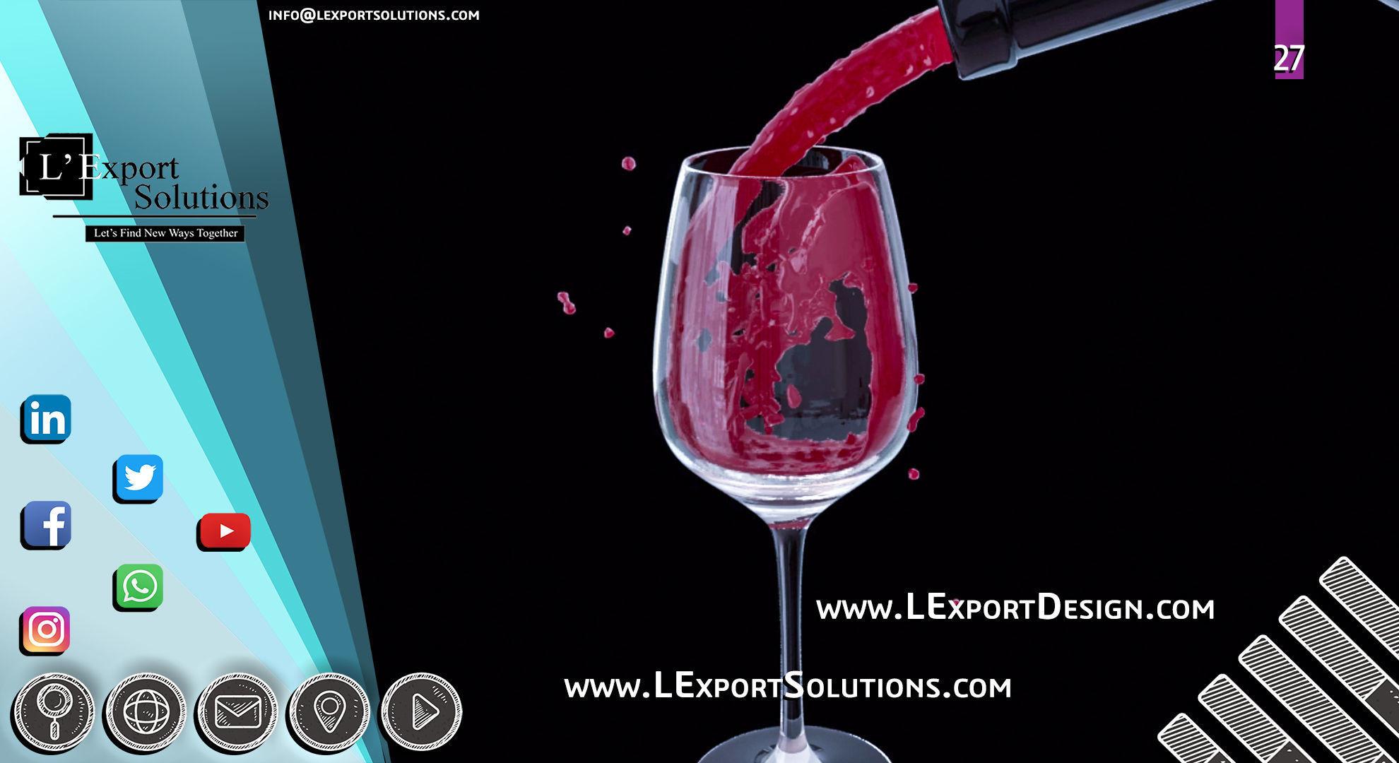 Wine - Animation Cinema 4D - LExport Solutions | 3D model