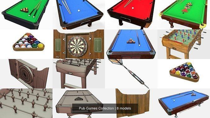 pub games collection 3d model fbx ma mb 1