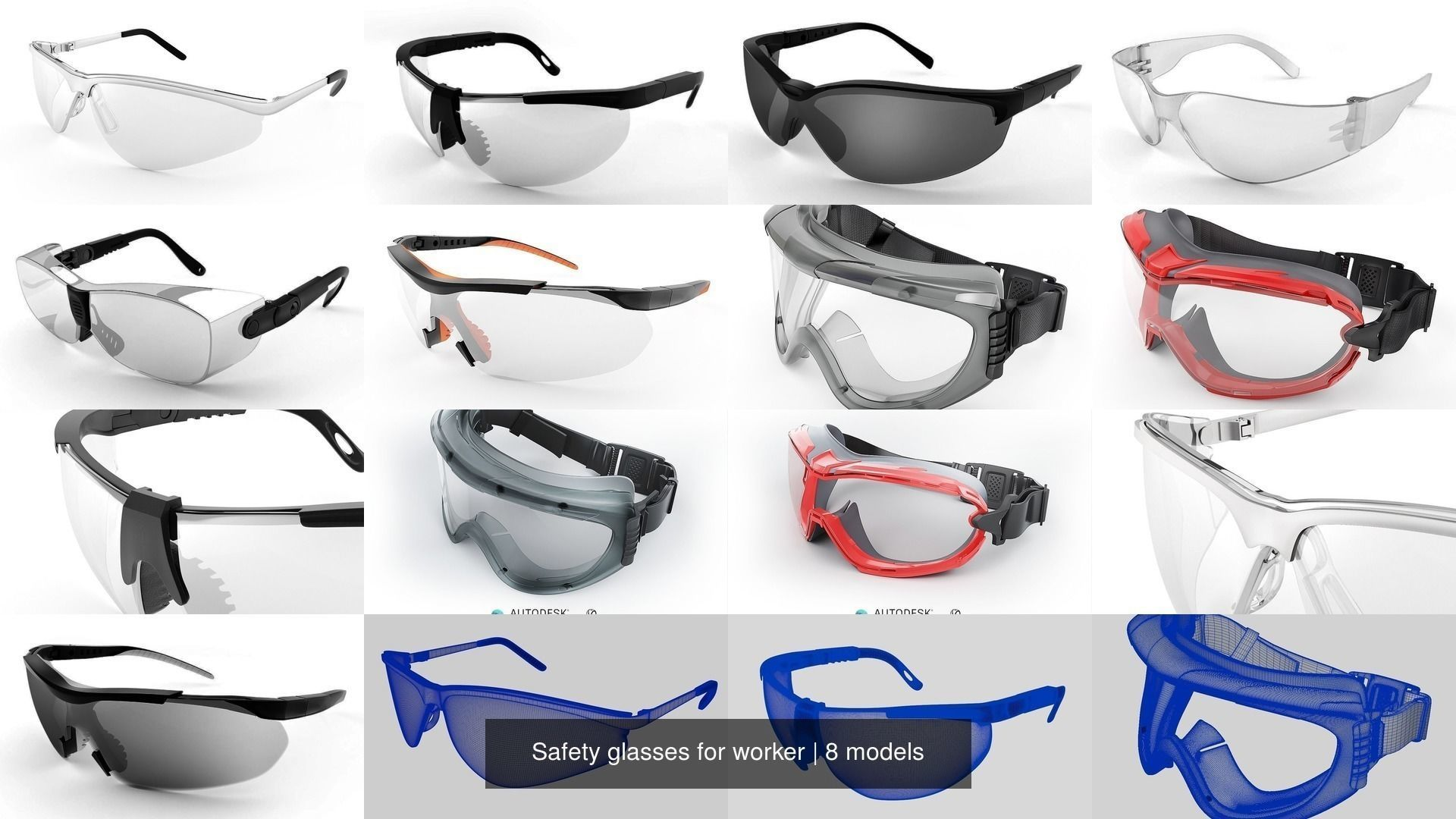Safety glasses for worker