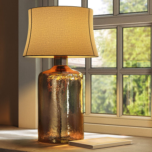 Pottery Barn Clift Glass Table Lamp Base   Espresso 3D Model
