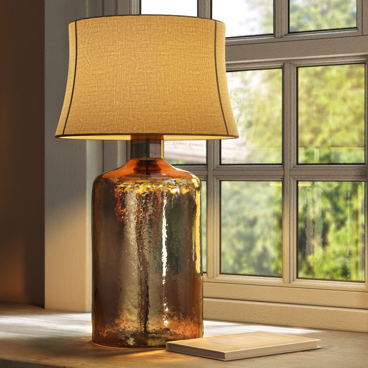 Pottery Barn Clift Glass Table Lamp Base - Espresso 3D ...