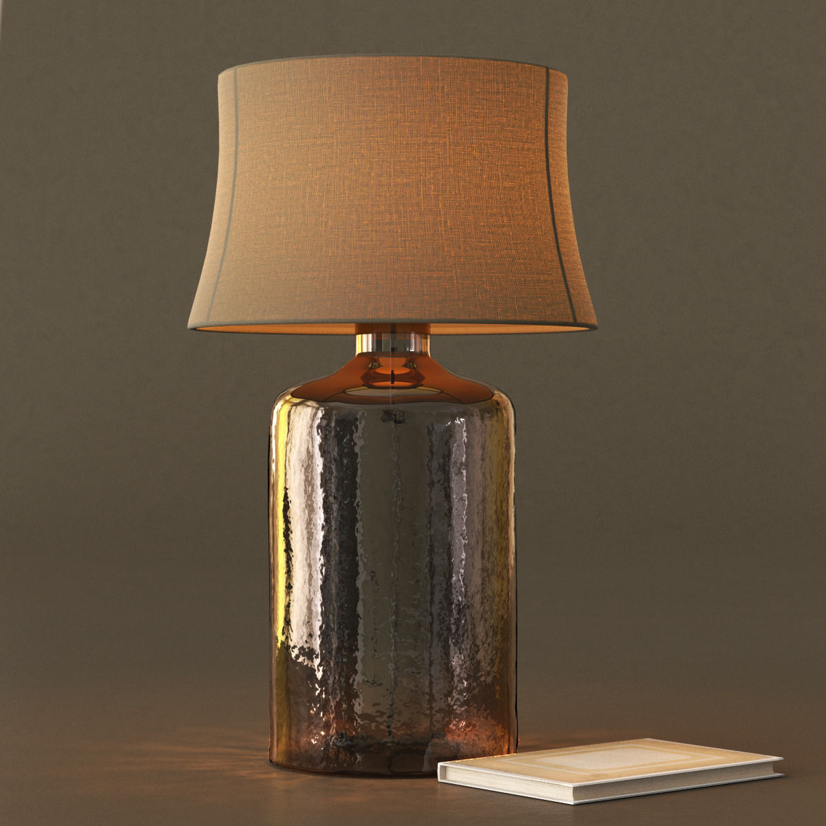 ... Pottery Barn Clift Glass Table Lamp Base   Espresso 3d Model Max Obj  3ds Fbx Mtl ...
