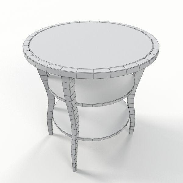 ... Baker Barbara Barry Round Side End Table 3d Model Max Obj 3ds Fbx 5 ...