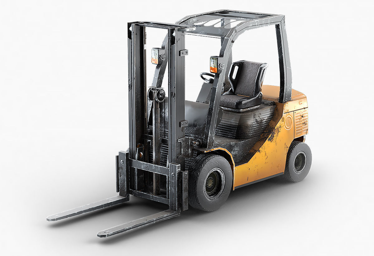 Forklift Truck For Games And Videos