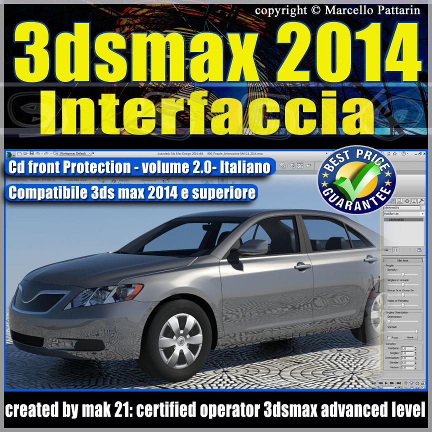 3dsmax 2014 vol  2 Interfaccia Italiano cd front