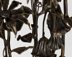 Bronze bouquet 3D model