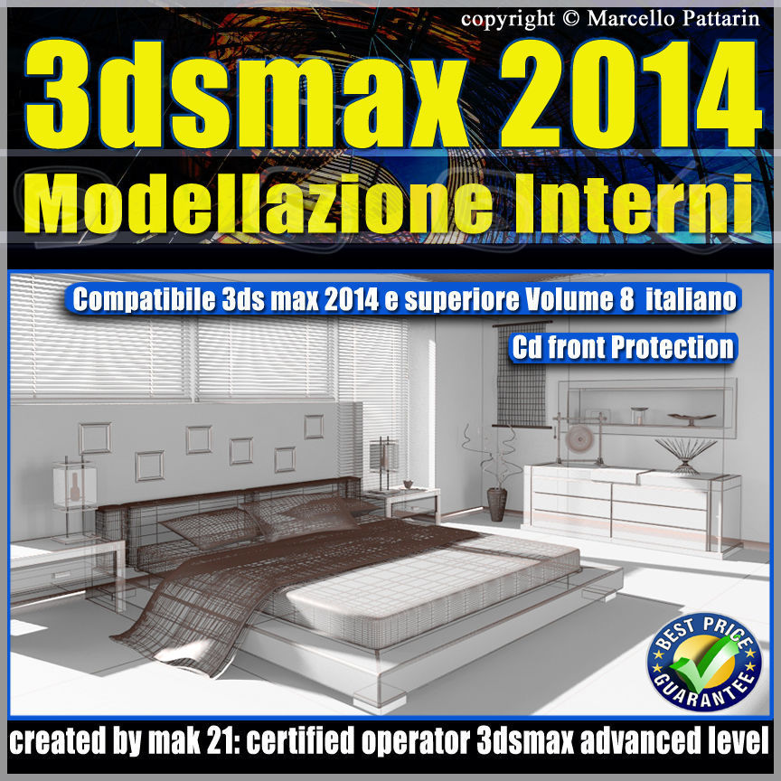3ds max 2014 Modellazione Interni v 8 Italiano cd front
