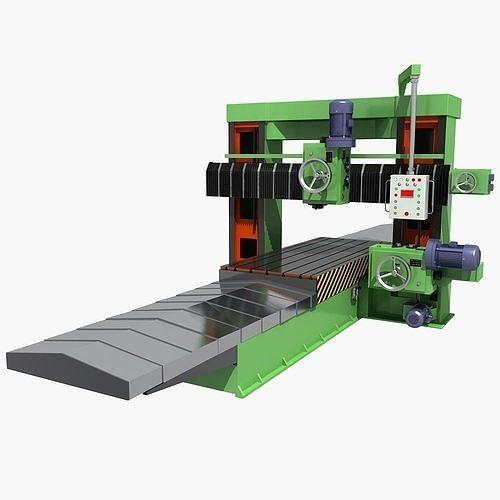 milling machine 2  3d model max fbx 1
