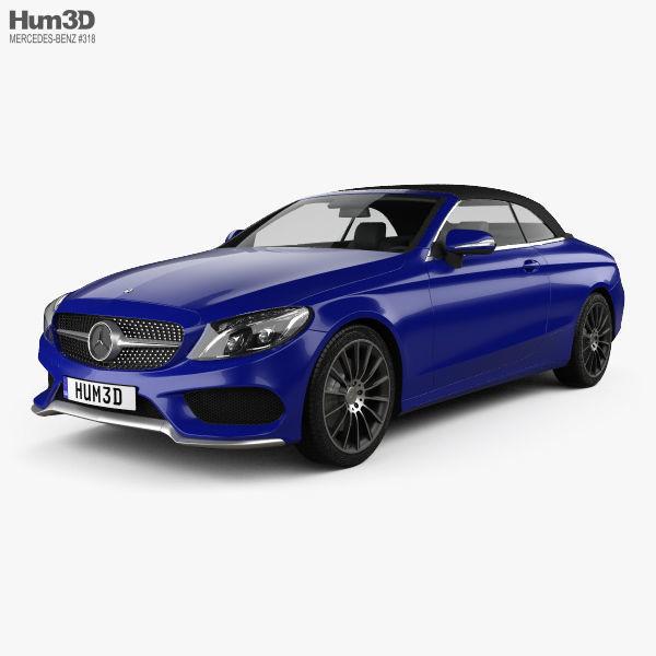 Mercedes-Benz C-class A205 Convertible AMG Line 2016 3D