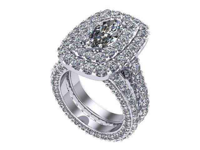 Marquise cushion halo ring