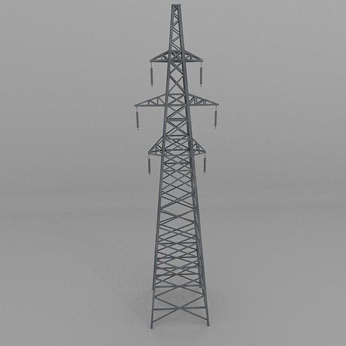 column power lines 2 3d model low-poly obj 3ds fbx blend dae x3d 1