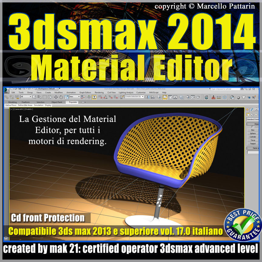3ds max 2014 Material Editor v 17 Italiano cd front