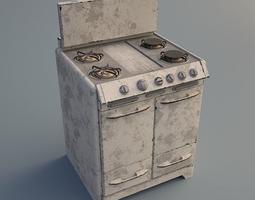 3D asset Rusty Stove