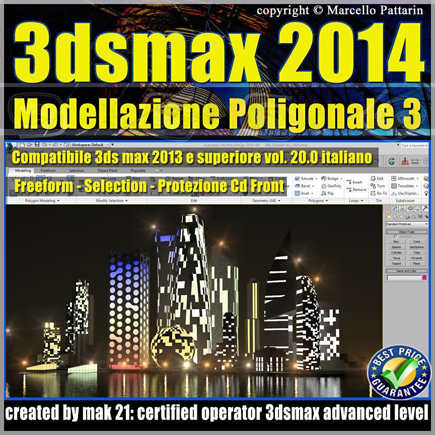3ds max 2014 Modellazione Poligonale v 20 Italiano CD Front