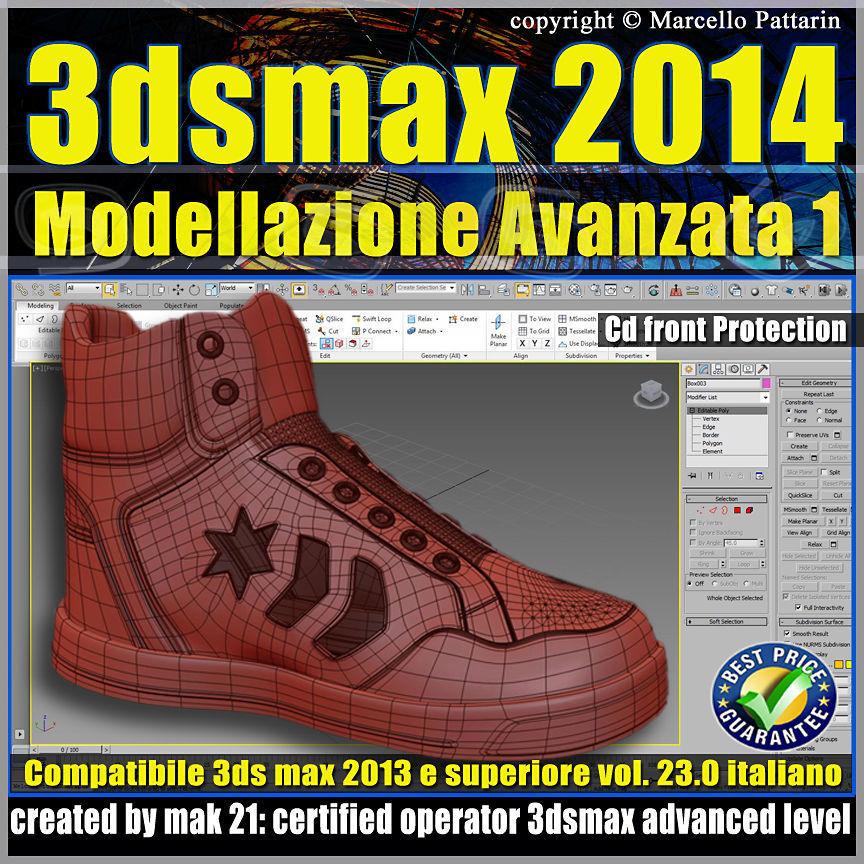 3ds max 2014 Modellazione Avanzata 1 v 23 Italiano cd front