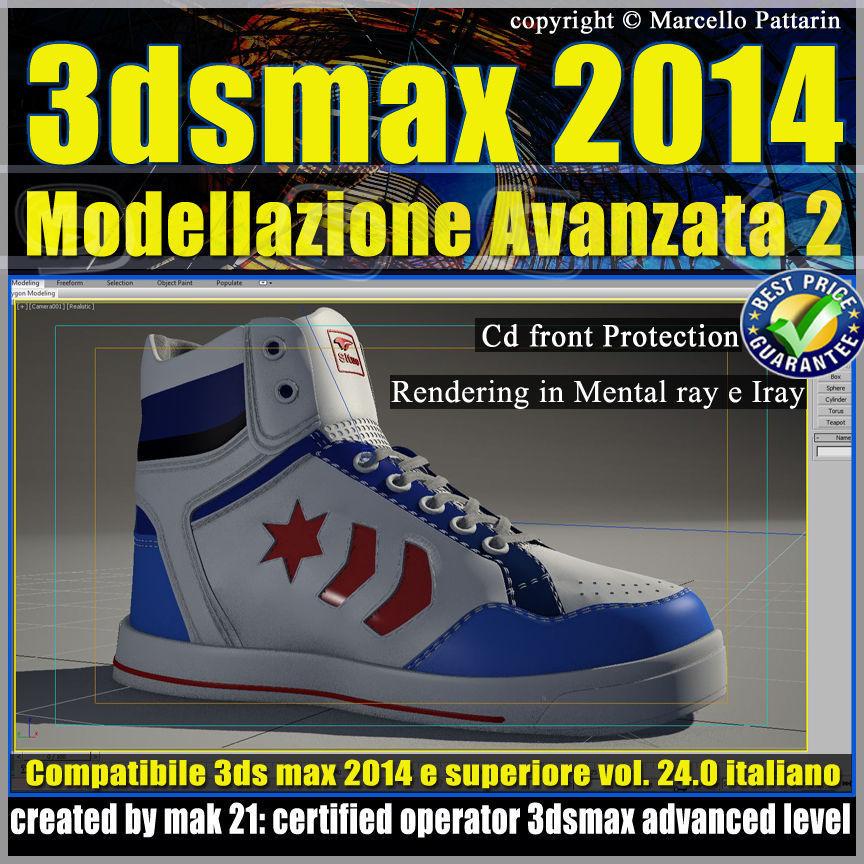3ds max 2014 Modellazione Avanzata 2 v 24 Italiano cd front