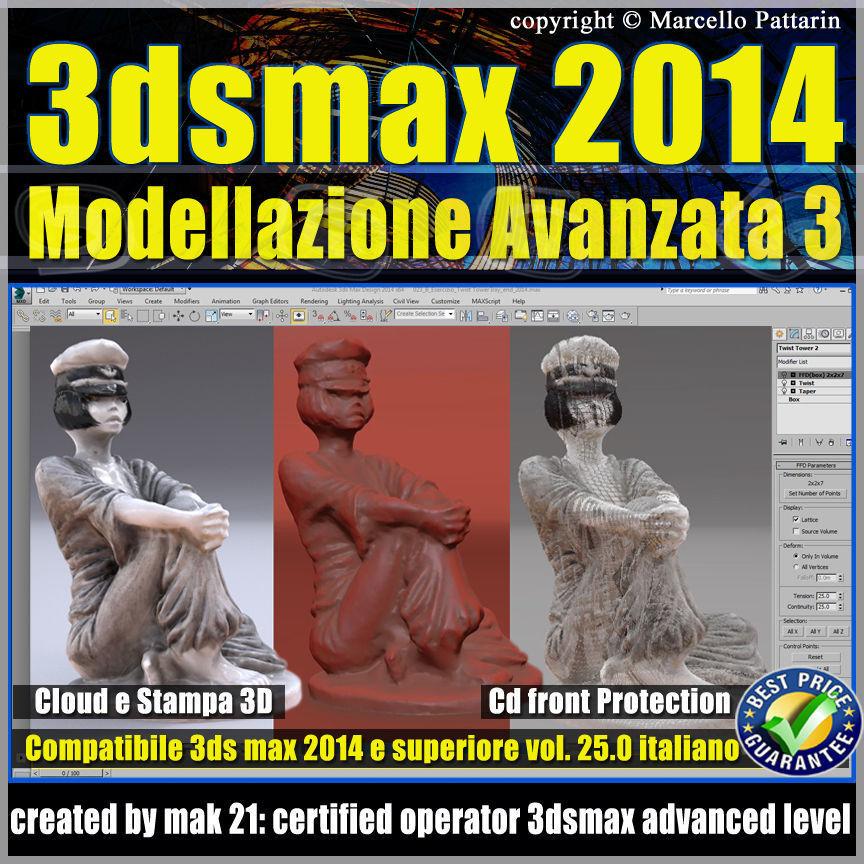 3ds max 2014 Modellazione Avanzata 3 v 25 Italiano cd front