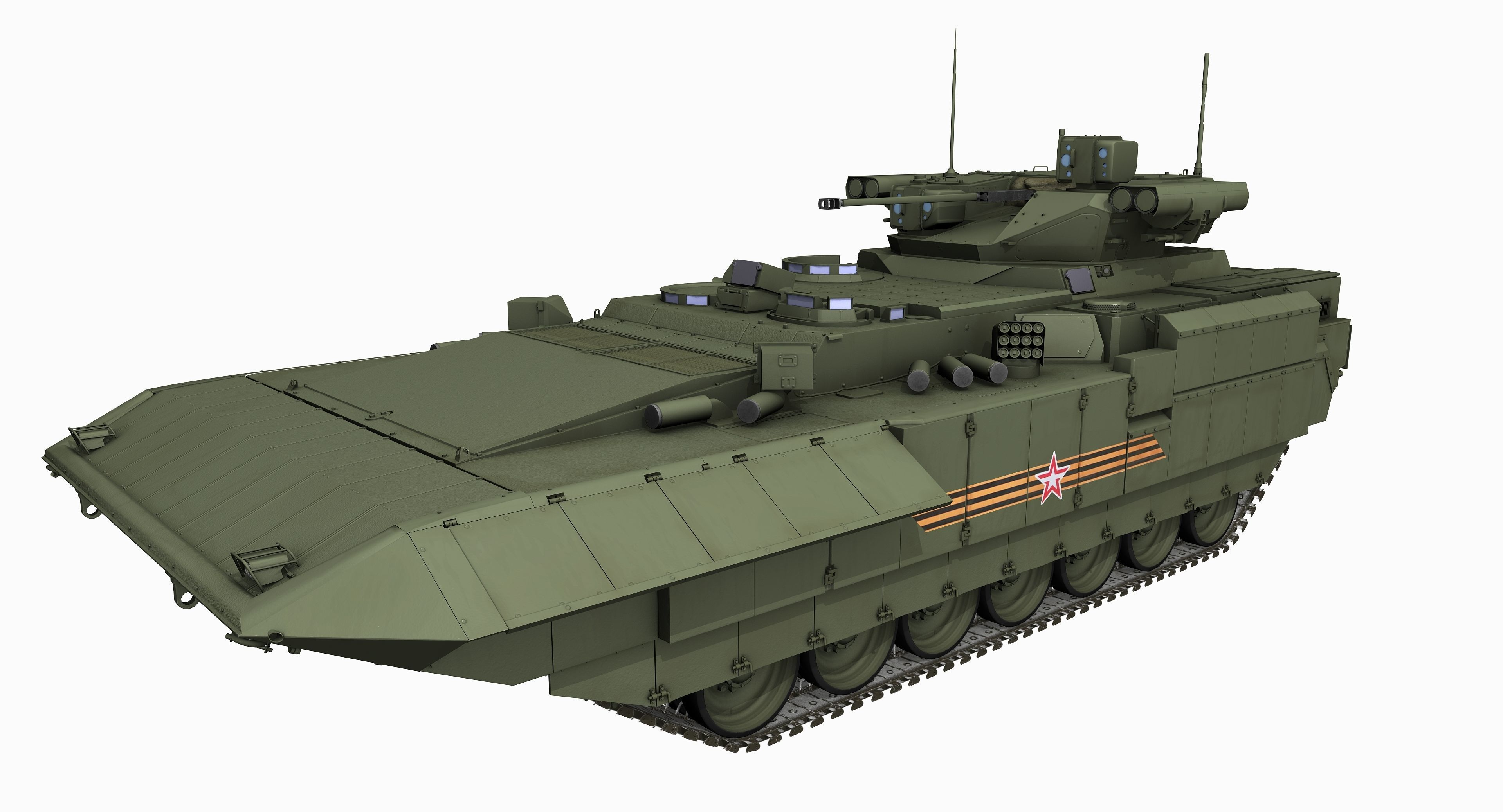 T-15 Armata Russian Heavy APC Game PBR Model