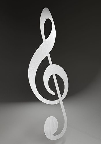 treble clef 3d model max obj mtl 3ds fbx stl dwg 1