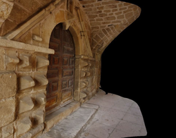 door of the hopital saint-jacques pradelles france 3d model