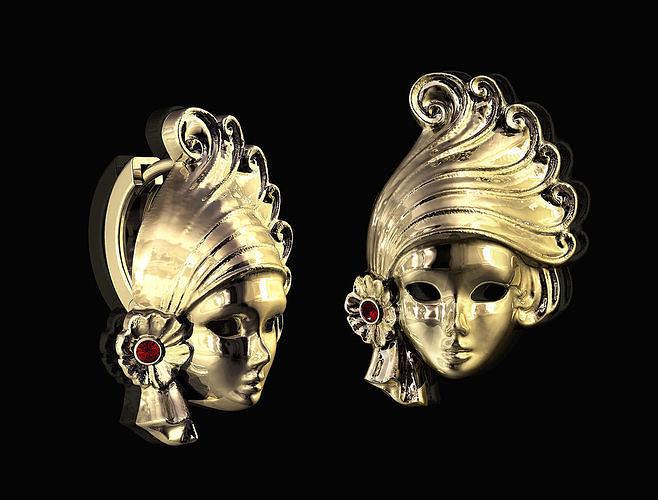Venice Mask earrings