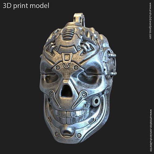 Robotic skull vol13 pendant jewelry