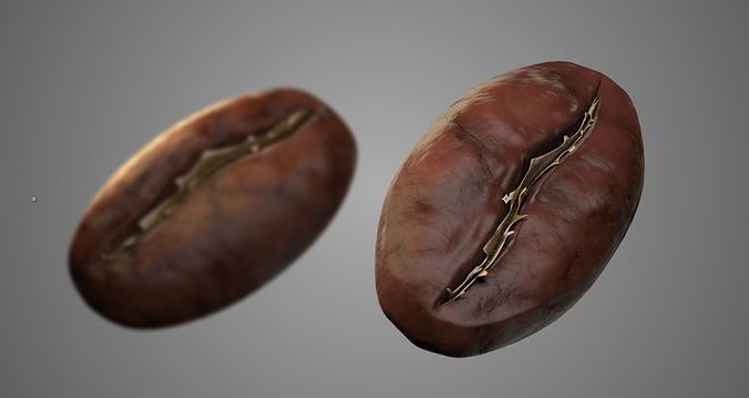 coffee bean  3d model obj mtl fbx ma mb mel 1