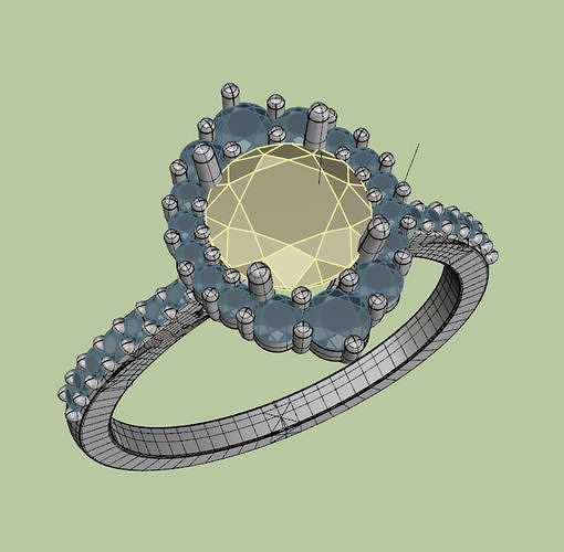 diana ring round stone 6mm