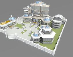 3D model Cartoon base location