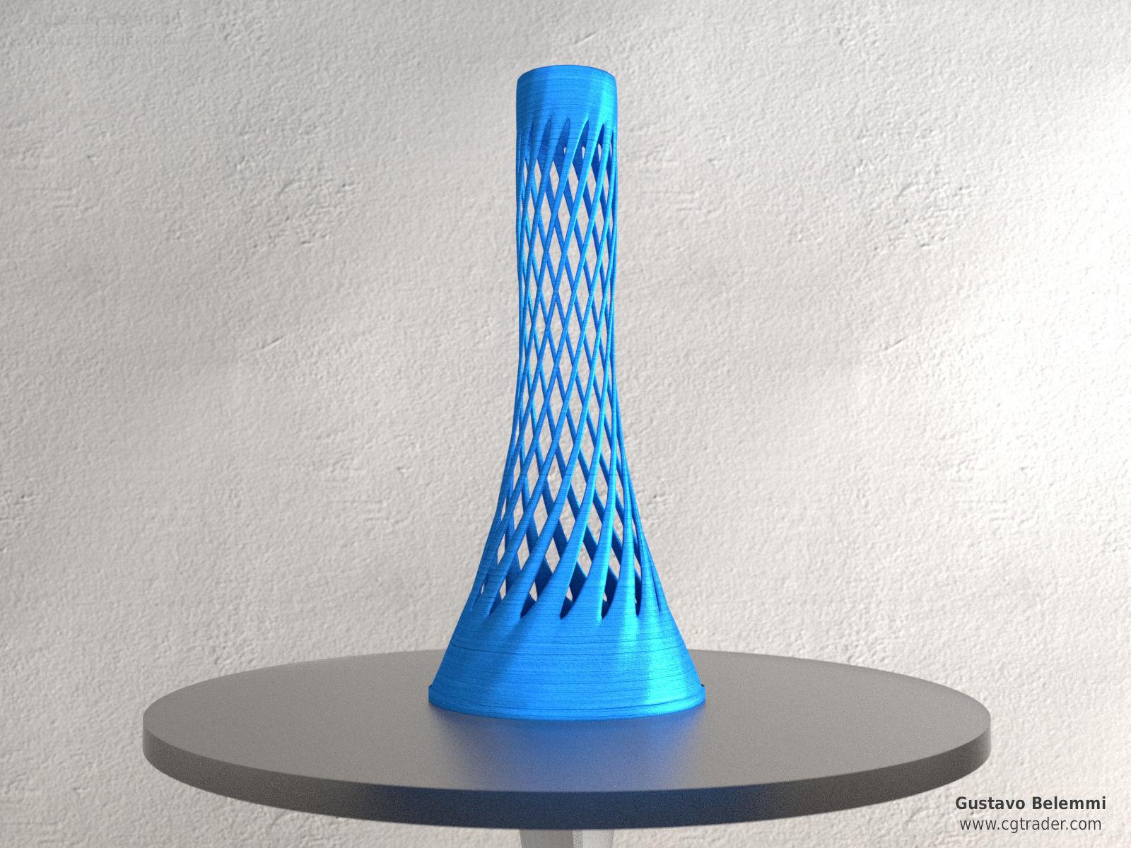 Modern Vase Thin Spiral