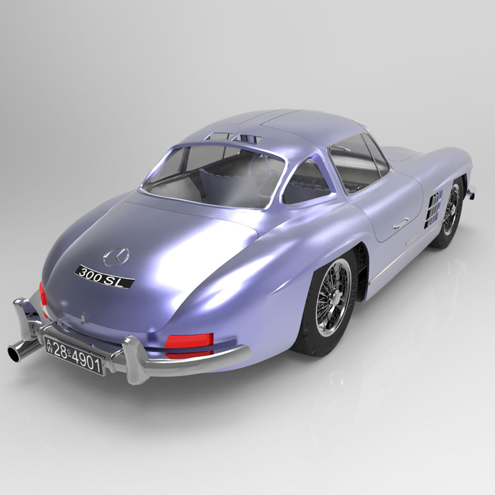 mercedes benz 300 sl 3d model rigged max obj. Black Bedroom Furniture Sets. Home Design Ideas